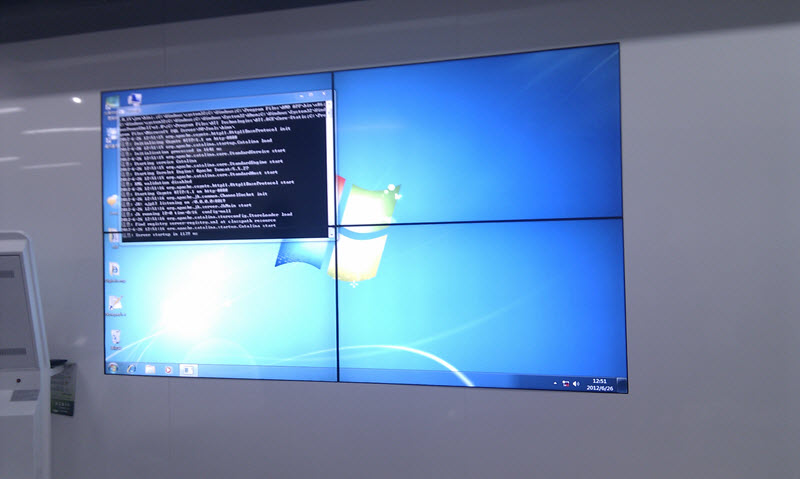 2 x 2 lcd video wall installed in zte of