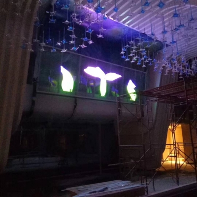 Indoor transparent led screen use in hall