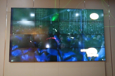 4x4 46inch LCD Video Wall in a Convention Center