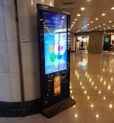Stand Alone Digital Signage Placed in a Shopping Mall