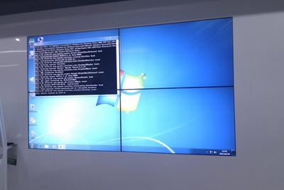 2 x 2  LCD Video Wall installed in ZTE Office