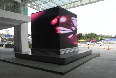 Garden shopping mall Cube Shape LED Display