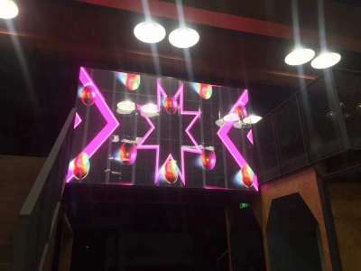 Transparent led display wall indoor using